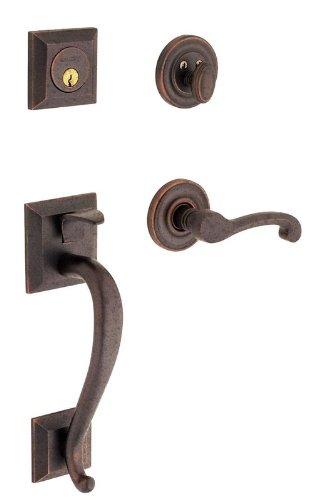 (Baldwin 85320412LFD Distressed Venetian Bronze Images, Madison Left Handed Madison Dummy Handleset with Classic Interior Lever)