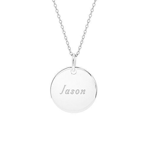 d Tag Pendant (Sterling Silver Round Tag Pendant)