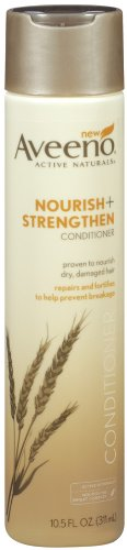 Price comparison product image Aveeno Nourish+ Strengthen Conditioner,  To Help Prevent Breakage,  10.5 Fl. Oz