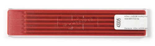 Koh-i-noor 2.0 mm Red Leads for Technical Drawing. 4300/5 OfficeCentre 4300005004PK