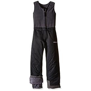 Arctix Kids Limitless Fleece Top Bib Overalls, Black, 4T