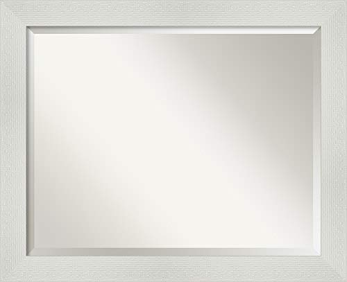 Amanti Art Framed Vanity Mirror   Bathroom Mirrors for Wall   Mosaic -