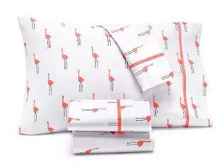 Cheap Martha Stewart Whim Collection Novelty Print 4 Piece 200 Thread Count Queen Sheet Set, Only At Macy's Bedding Pink Flamingo martha stewart bedding sets