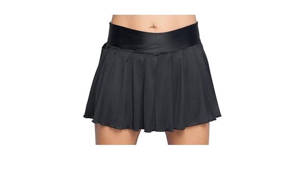 96f2664f05 Amazon.com: Pleated Mini Skirt Black Lycra. Junior Size Womens. Sexy  Style!: Miniskirts: Clothing
