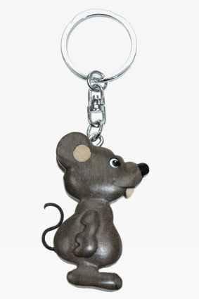 Diseño de ratón ringolo de rata * Llavero de madera: Amazon ...