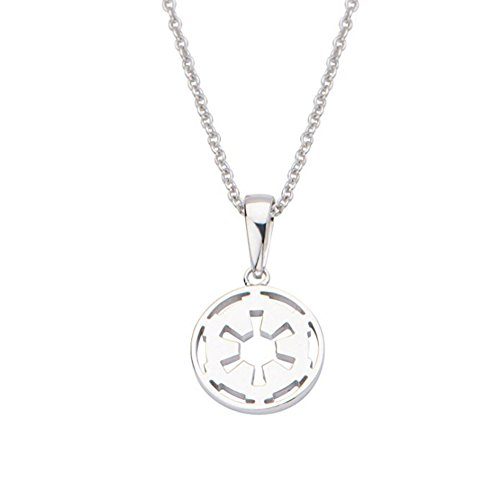 Superheroes Brand Star Wars Galactic Empire Symbol 925 Sterling Silver Pendant Necklace w/Gift Box by Superheroes Brand