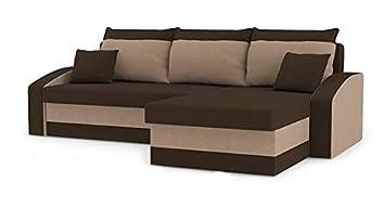 Romano Furniture Corner sofa Bed Hewlet brown&beige