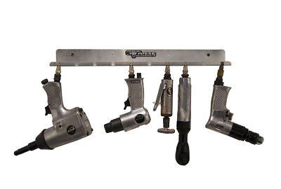 Pit Posse PP3118 Air Tool Pneumatic Rack Holder Trailer Shop Garage Aluminum