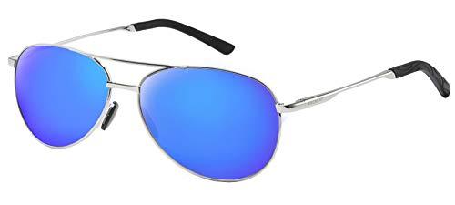 Cadre Bleu Réglable Métal Argent Ultra Soleil Polarisées Classique Lentille Léger De HD Cadre Femme Glace Lentille WHCREAT Unisexe Homme Lunettes qSg8a