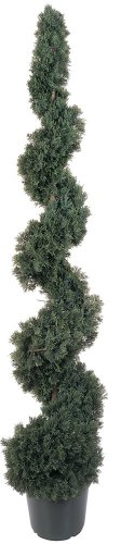 Nearly Natural 5166 Cedar Spiral Silk Tree Indoor/Outdoor, 5-Feet, Green by Nearly Natural