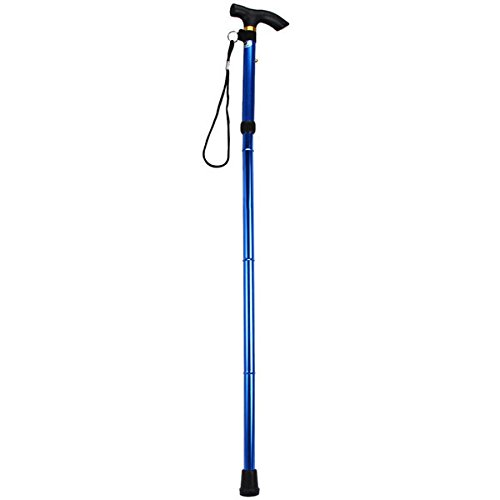 Folding Walking Stick, Adjustable Cane Aluminum Metal Collapsible Ergonomic Handle Lightweight Quick Locks Trail Poles with Non-Slip Rubber Base for Hiking Trekking Travel (Blue) by Wildmarely (Image #4)