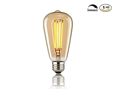 Vintage Edison Bulbs, 60w Dimmable Industrial Pendant Filament Light Bulbs with Vintage Antique Style Design for Pendant Lighting, Wall Sconces, Ceiling Fan and Chandeliers