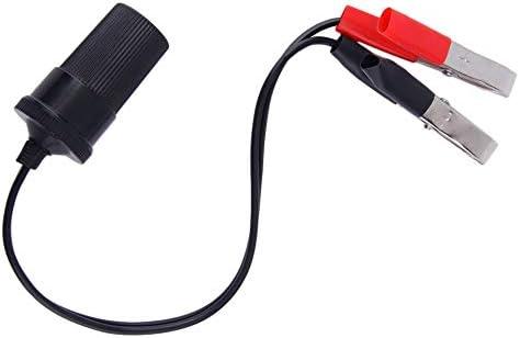 Neue 12 Volt Batterieklemme Clip-on Zigarettenanz/ünder Steckdose Adapter Stecker Auto Boot Van F/ür Camping