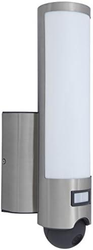 Lutec Elara Luce di Sicurezza a LED con Telecamera 18 W, Grigio