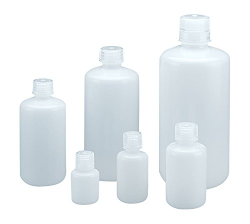 Qorpak 249619 Narrow Mouth Lab Style Bottle with 24 mm PP Linerless Leak-Proof Cap, Integral Seal Ring Enclosed, HDPE, 250 mL, Natural (Pack of 72)