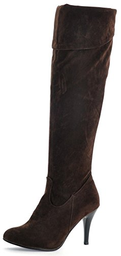 Brown Biker Boots For Women - 7