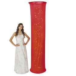 Light-Up Red Fabric Column - Solid Color Party Supplies & Solid Color Party Decorations by Fun Express