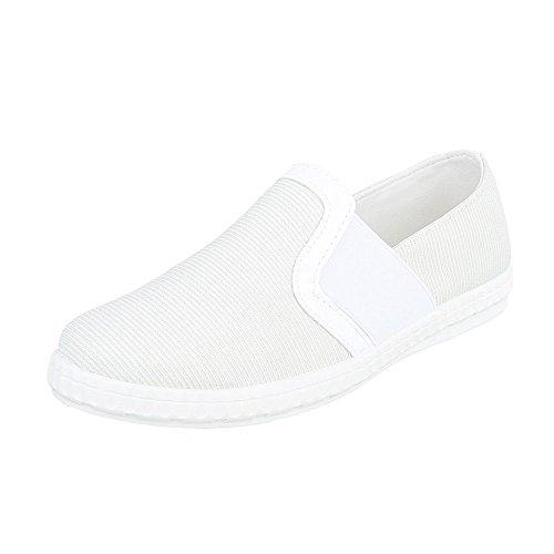 Ital-Design Slipper Damenschuhe Low-Top Sportliche Halbschuhe Weiß