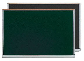 Gray Chalkboard with Wood Frame Size: 3' H x 5' L