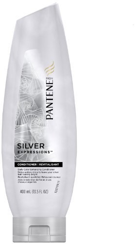 Pantene Pro-V Silver Expressions Daily Color Enhancing Conditioner for All Silver and Gray Shades, 13.5 fl oz (400 ml) by Pantene