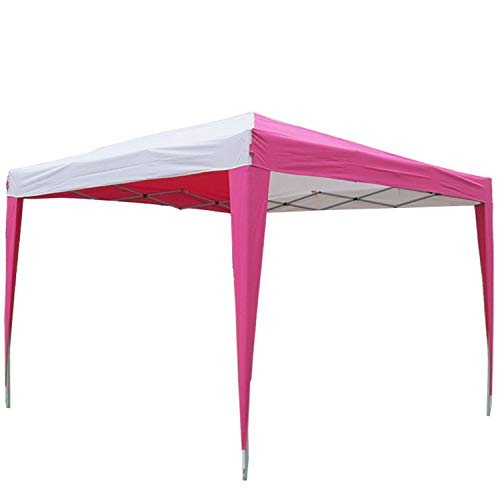 Cheap DELTA Canopies 10'x10′ Pop Up Canopy Party Tent Instant Gazebo EZ CS N – Pink/White