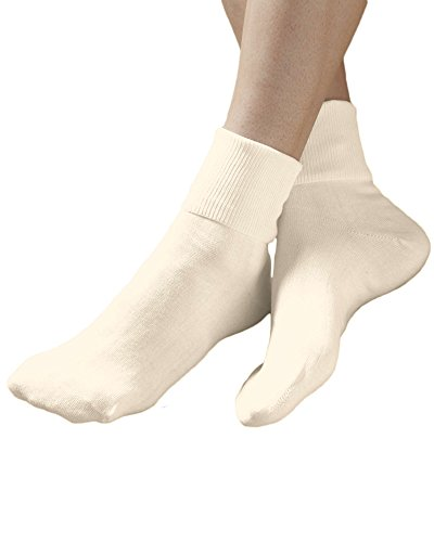 Buster Brown 100% Cotton Socks, Ivory, 11, 6-pk (Ivory Womens Socks)