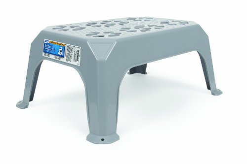 (Camco Durable Step Stool - Textured Platform Surface to Help Prevent Slipping |Lightweight & Sturdy | Design Excellent for RVs, Trailers, Trucks| 300 lb. Capacity | 21