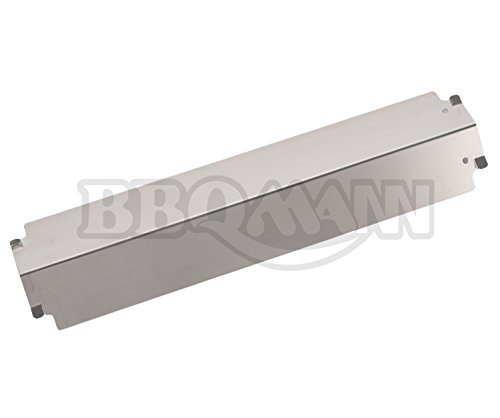 """BBQMANN JD321 (4-pack) Stainless Steel Heat Plate/Shield Replacement for Select Gas Grill Models, Charbroil and Others (16"""" X 3 13/16"""")"""