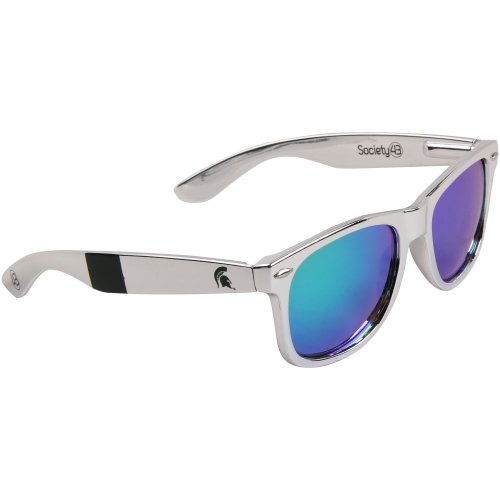 Spartans  MIST-6 Silver Chrome Frame, Green Lens Sunglasses, Silver, One Size ()