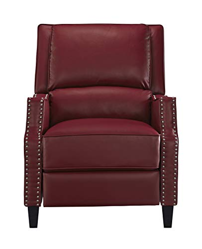 Standard Furniture Alston Push Back Recliner, Red (Nailhead Recliner)