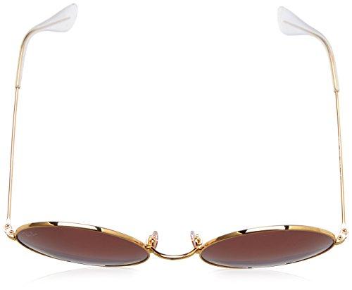 Ray-Ban ja métal jo ronde lunettes de soleil gold bleu violet dégradé RB3592 001/I8 55 Blue Violet Gradient Gold