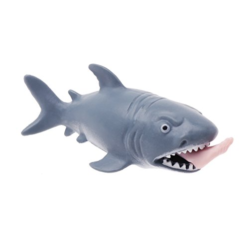 CUTEQ Shark Squeeze Vent Toy Fun Stress Reliever Press To Spit Leg Kids Novelty Gift For Children Halloween Fool's Day -