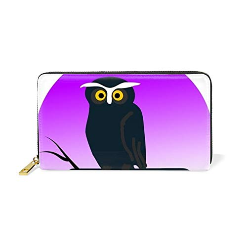 Clipart Halloween Owl Graphic Wallet Clutch with Removable Strap -