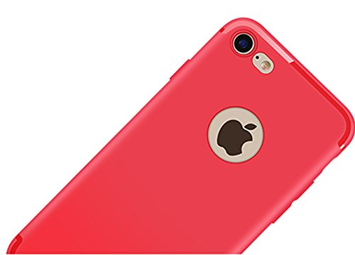 CaseHQ iPhone 6 Case, iPhone 6S Case, [Ultra-Thin] & [Soft touch] Premium Slim Fit TPU rubber Protect Cover for iPhone 6/6s 4.7 inch (Red) (Iphone 4 Powerz Qable Case)