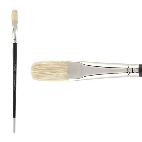 Creative Mark Pro Stroke Premium Artist White ChungKing Hog Bristle Paint Brush - Flat - Bristle Brush Chungking White