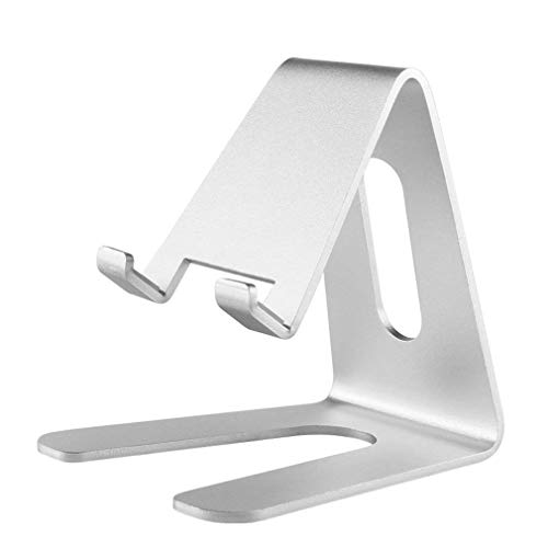 Stand Cradle - Jinwode Cell Phone Stand, Phone Dock: Cradle Holder Stand Compatible with Switch, All Android Smartphone, Phone 6 6s 7 8 X Plus 5 5s 5c XS Max XR Charging, Accessories Desk - Silver (2nd Silver)
