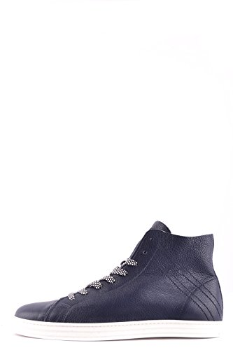 Hogan Rebel Herren MCBI148434O Blau Leder Hi Top Sneakers