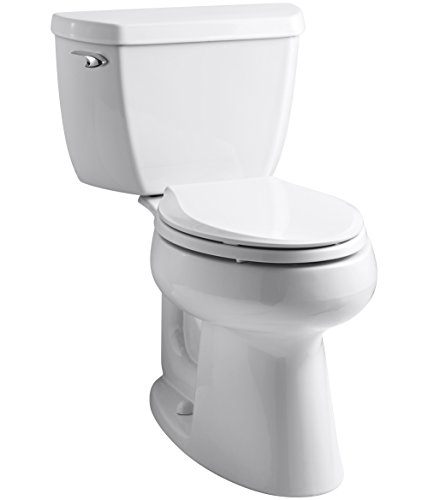 Highline Classic 1.0 GPF Comfort Height Two-Piece Elongated Toilet with Class Five Flush Technology and Left-Hand Trip Lever, White