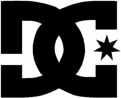 X2/DC voiture sticker Noir 10/cm
