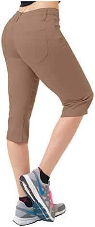 Hybrid & Co. Women's Butt Lift Super Comfy Stretch Denim Capri Jeans