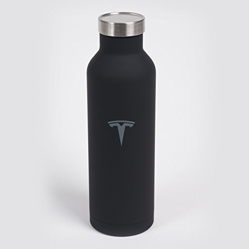 Tesla Logo Black Stainless Steel Water Bottle 20oz by Tesla