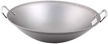 Einfache und elegante Hand hergestellt große Eisenpfanne, hart, hochtemperaturfesten Stahlgriff Antihaft- Pfanne, als Gusseisenpfanne/Pfanne 40cm verwendet (Size : 45cm)