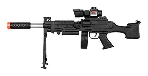 UKARMS Tactical LMG Spring Airsoft Rifle Gun FPS 300
