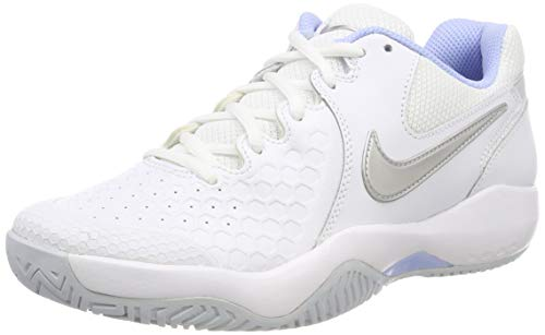 Nike Women's Air Zoom Resistance Tennis Shoes (7.5 B US, White/Metallic Silver/Pure Platinum)