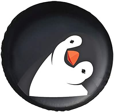ペンギン 可愛 タイヤカバー タイヤ保管カバー 収納 防水 雨よけカバー 普通車・ミニバン用 防塵 保管 保存 日焼け止め 径83cm