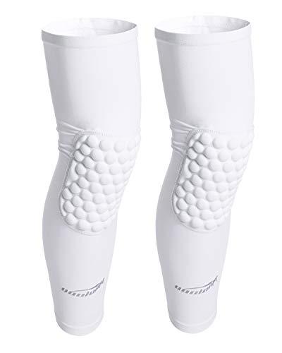reputable site af218 9564a COOLOMG Pair Kids Adult Crashproof Antislip Knee Brace Knee Pad Sleeve Long  Leg Support Compression Protective