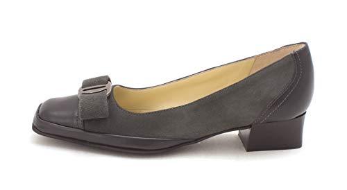 Amalfi by Rangoni Womens Mambo Leather Square Toe, Asfalto Cashmere, Size 8.5