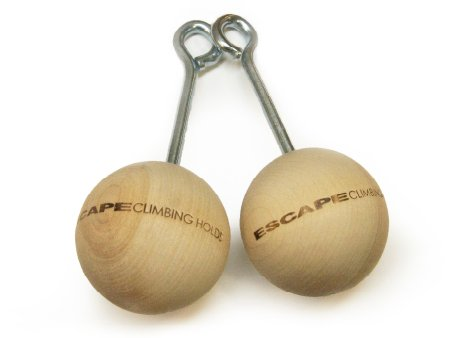 "Rock Climbing 3"" Wood Training Power Balls, 2 Count"