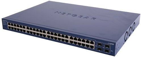 NETGEAR 48-Port Gigabit Ethernet Smart Managed Pro Switch, 4 SFP, ProSAFE Lifetime Protection (GS748T) (Ip Dynamic Support)