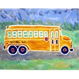 Todd Walk Galleries School Bus - Kids Framed Art Print